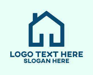 Pentagon - Minimal House Pentagon logo design