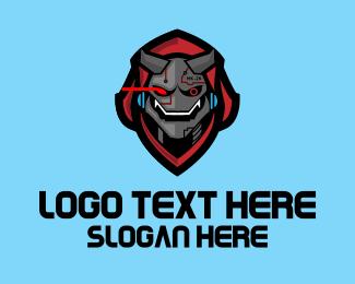 Mascot - Gaming Cyborg Mascot logo design