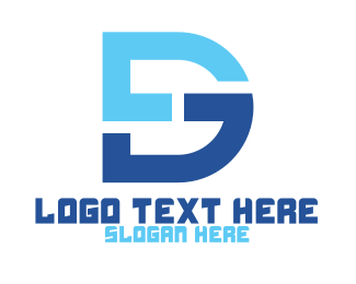 Dg - Blue DG Monogram logo design