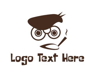 Cigar - Funny Smoker logo design