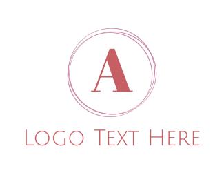 Makeup - Minimalist Feminine Circle logo design