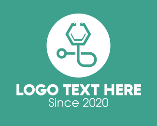 Doctor - Green Doctor's Stethoscope logo design