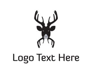 Antlers - Black Moose logo design