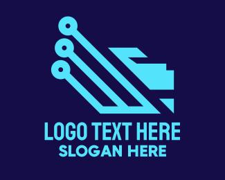 Webhosting - Blue Lion Tech logo design