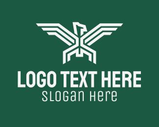 Minimalist - Bird Wings Emblem logo design