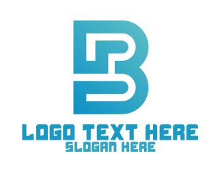 Architecture - Modern Gradient B Monogram logo design