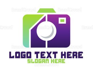 Electronics Boutique - Geometric Tech Camera  logo design