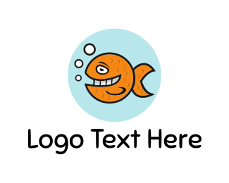Sea - Happy Goldfish logo design