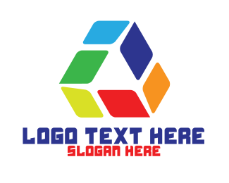 High Tech - Colorful Tech Triangle  logo design