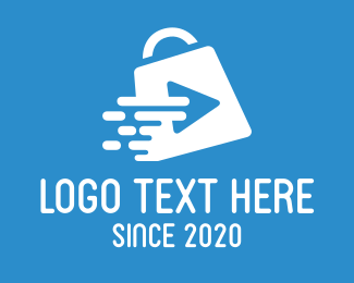 Item - Media Player Shopping Bag logo design