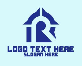 Cloud Storage - Blue Software Letter R  logo design