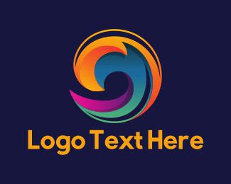 Exhibition - Colorful Wave logo design