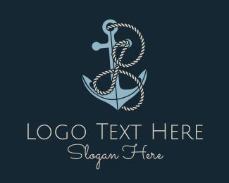 I - Anchor Rope Letter I logo design