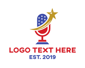 Usa - USA Microphone  logo design