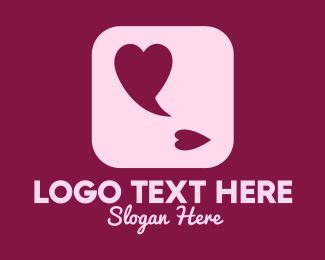Message Bubble - Lovely Speech Bubble App logo design