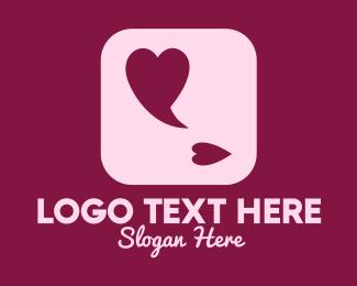 Speech Bubble - Lovely Speech Bubble App logo design