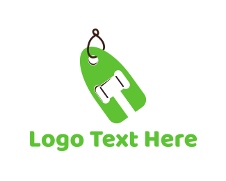 Auction - Bid Label logo design