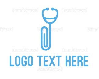 Rehab - Clip Stethoscope logo design