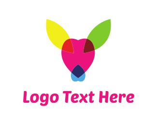 Reindeer - Colorful Deer logo design