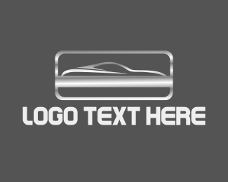 Sports Car - Silver Car logo design