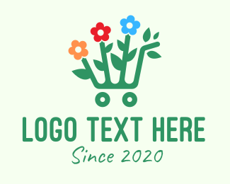 Flowers - Flower Garden Shopping Cart logo design