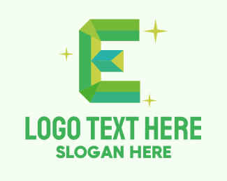 Clean Energy - Shiny Gem Letter E logo design