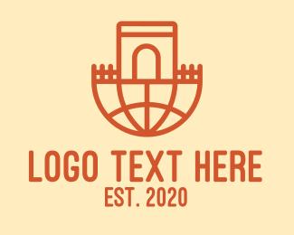 Arch - Global Castle Arch logo design