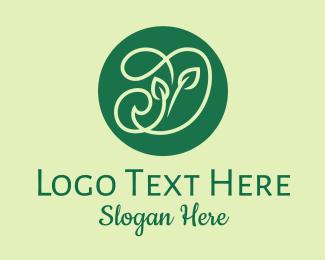Seedlings - Green Herbs Letter D  logo design