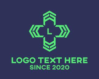 Chemist - Cross Lettermark logo design