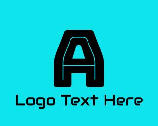 Virus - Gaming Black Letter A logo design