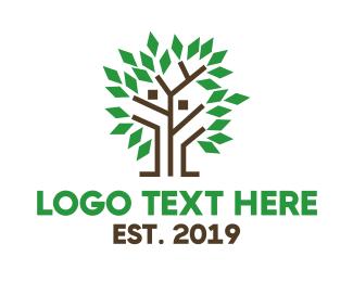 Partner - Modern Geometric Tree logo design