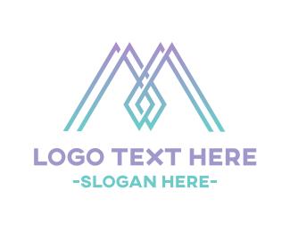 Minimalist - Spider Letter M  logo design