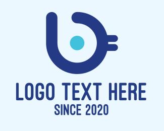 Chick - Blue Bird Letter B logo design