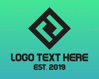 Double - Square Double L logo design