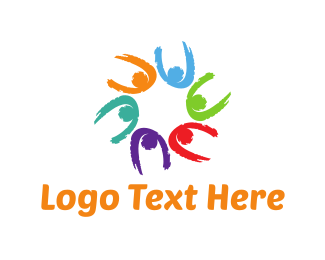 Playful - Colorful Team logo design