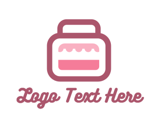 Purse - Pink Bag Stall logo design