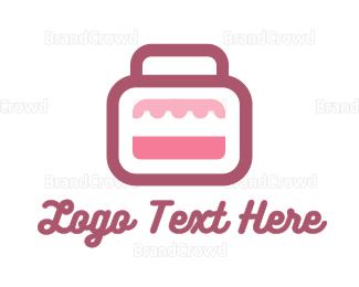 Briefcase - Pink Bag Stall logo design