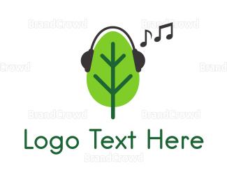 Stereo - Musical Tree logo design