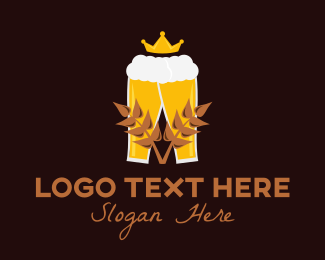 Beer Froth - Royal Wheat Beer logo design