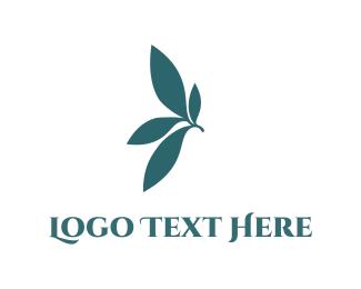 Dainty - Blue Leaves logo design