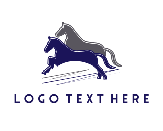 Double - Horse Race logo design