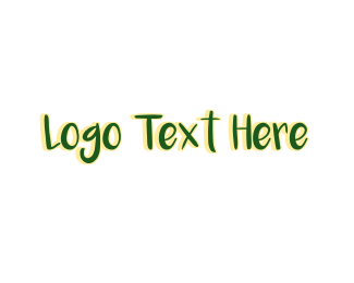 Spring Break - Green Tropical Wordmark logo design