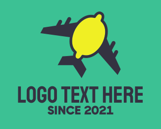 Lemon - Lemon Plane  logo design