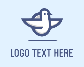 Pidgeon - White Bird logo design