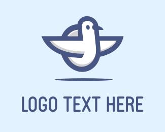Aeroplane - White Bird logo design