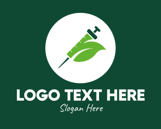 Vaccination - Green Natural Leaf Vaccine logo design