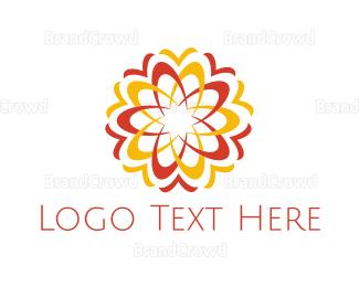 Fire - Fire Flower logo design