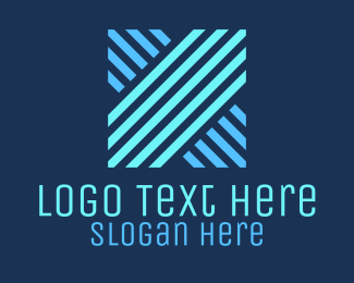 Internet - Geometric Letter X logo design