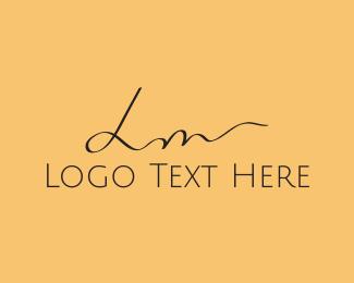 Letter L - L & M logo design