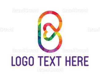 Barcelona - Heart Letter B logo design